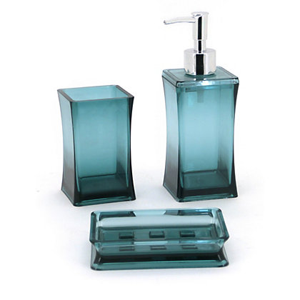 square bathroom accessory set 3 piece