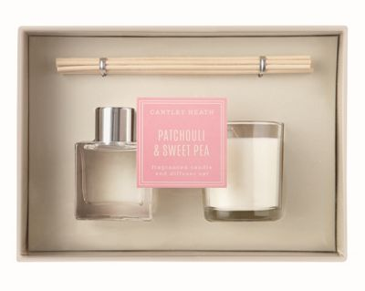 Cantley Heath Patchouli and Sweet Pea Candle and Diffuser