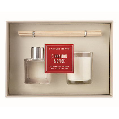 Image for Cantley Heath Cinnamon & Spice Candle & Diffuser from StoreName
