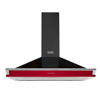 Image for Stoves 444442869 Richmond Chimney Rail Hood - 90cm - Hot Jalapeno from StoreName