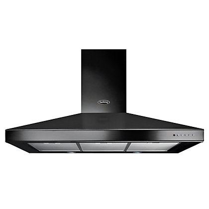 Image for Belling 110cm 444443451 Chimney Hood - Black from StoreName