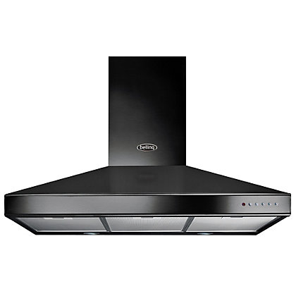 Image for Belling Chimney Hood - 90cm - Black from StoreName