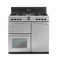 Belling Classic 90DFT Dual Fuel Range Cooker - Silver.