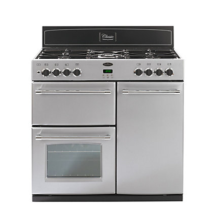 Image for Belling Classic 90DFT Dual Fuel Range Cooker - Silver from StoreName