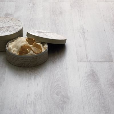 Image for Home of Style Textured White Laminate Flooring - 2.39sq m per pack from StoreName