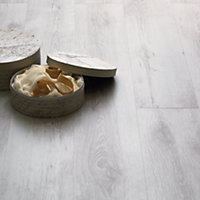 Home of Style Textured White Laminate Flooring - 2.39sq m per pack