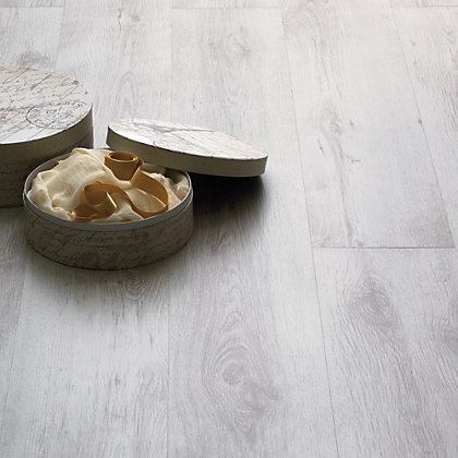 Image for Hygena Textured White Laminate Flooring - 2.39sq m per pack from StoreName