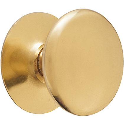 Image for Victorian Polished Brass Knob - Large - 38mm from StoreName