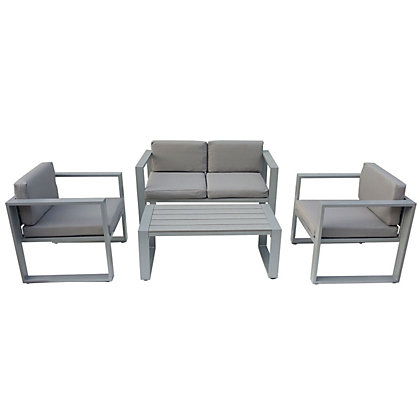 Image for Charles Bentley Grey Polywood 4 Piece Garden Sofa Set from StoreName