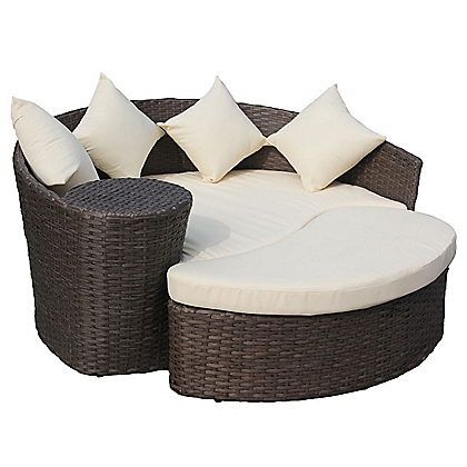 palermo rattan effect garden corner sofa set. Black Bedroom Furniture Sets. Home Design Ideas
