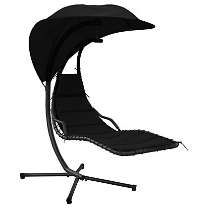 Image for Charles Bentley Metal Helicopter Swing Chair - Black from StoreName