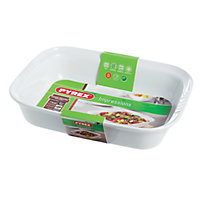 Pyrex Impressions White Roaster Dish - 33x24cm