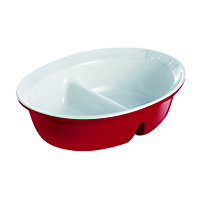 Pyrex Impressions Red Divider Dish