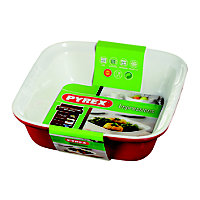 Pyrex Impressions Red Square Roaster - 24x24cm