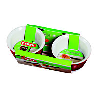 Pyrex Impressions Red Ramekins - Set of 2