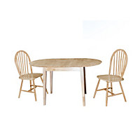 Thornbury Oval Extendable Dining Table with Country Chairs Package - Reserve and Collect.