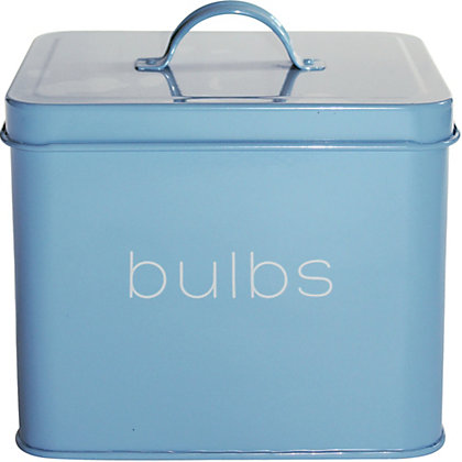 Image for Bulbs Storage Tin - Light Blue from StoreName