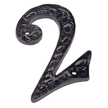 Image for Iron Door Number - Black - 2 from StoreName