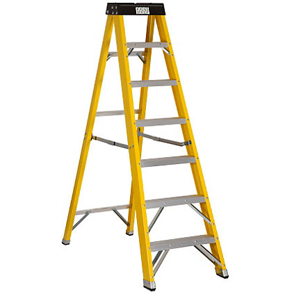 Image for Abru Fibreglass Stepladder 7 Tread from StoreName