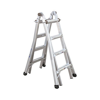 Image for Werner 4x4 Multi-Purpose Telescopic Combination Ladder from StoreName