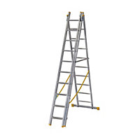 Abru ExtensionPLUS™ X4 2.97m Triple Box Section Reform Combination Ladder