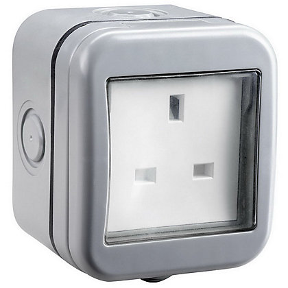 Image for Masterplug WPB23 IP55 1-Gang 13A Outdoor Unswitched Socket from StoreName