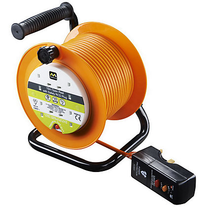Image for Masterplug 4 Gang 10A Open Reel with Safety RCD Plug - 15m from StoreName