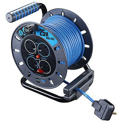 Image for Masterplug OMU25134SL_BL Pro XT 4-Gang 13A Open Reel  - 25m from StoreName