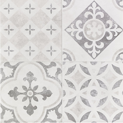 Atlas Grey Patchwork Ceramic Wall Amp Floor Tile 9 Pack