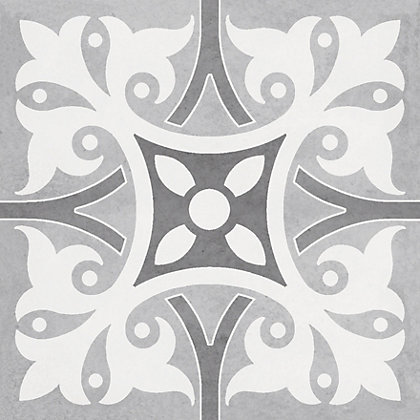 Image for Parian Patchwork Decor Greys Porcelain Wall & Floor Tile 12 pack from StoreName