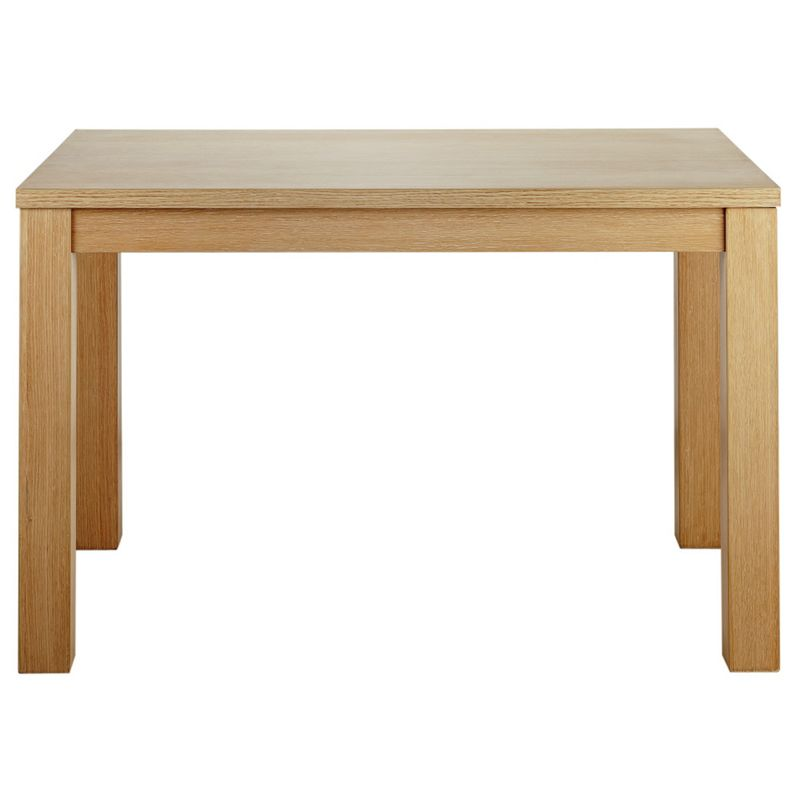 Siena 120cm dining table limed oak effect best price from homebase - Limed oak dining tables ...
