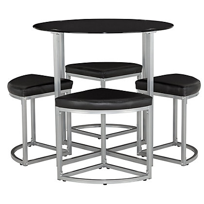 Dining Tables Chairs Dining Tables Tokyo Glass Round Space Saver