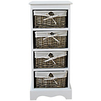 New Malvern 4 Drawer Storage Unit - White.