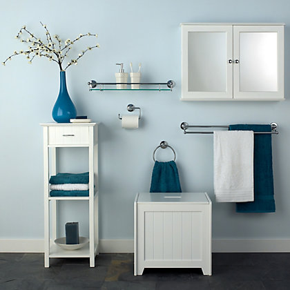 Image for Arizona Double Bathroom Cabinet - White from StoreName