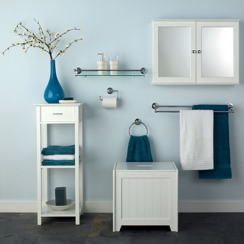 arizona double bathroom cabinet white