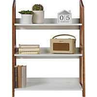 3 Tier Folding Shelving Unit - White.