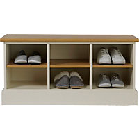 3 Shelf Winchester Low Hallway Unit -  Wood Effect