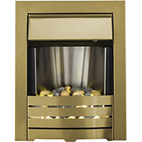 Adam Helios Electric Inset Fire in Brass