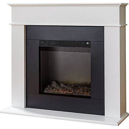 Image for Adam Farrington Electric Fireplace Suite from StoreName