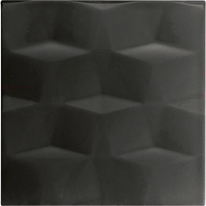 Image for Conran Facet Black Ceramic Wall Tile 25 pack from StoreName