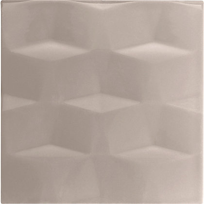 Image for Studio Conran Facet Glazed Ceramic Wall Tile Putty Gloss - 198 x 198mm - 25 pack from StoreName