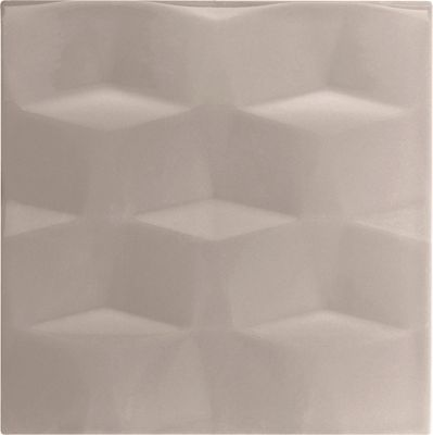 Image of Studio Conran Facet Glazed Ceramic Wall Tile Putty Gloss 198x198mm