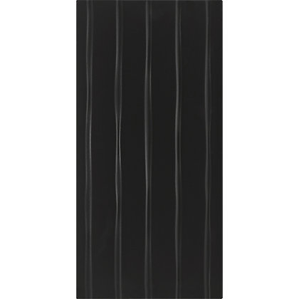 Image for Conran Flow Black Ceramic Wall Tile 8 pack from StoreName