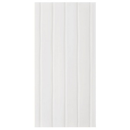 Image for Studio Conran Flow Glazed Ceramic Wall Tile White Satin - 248 x 498mm - 8 pack from StoreName