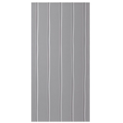 Image for Studio Conran Flow Glazed Ceramic Wall Tile Smoke Satin - 248 x 498mm - 8 pack from StoreName