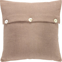 Linen With Buttons Cushion 43x43