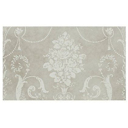 Image for Laura Ashley Josette Glazed Ceramic Decor Wall Tile Part A Grey Matt - 298 x 498mm - 6 pack from StoreName