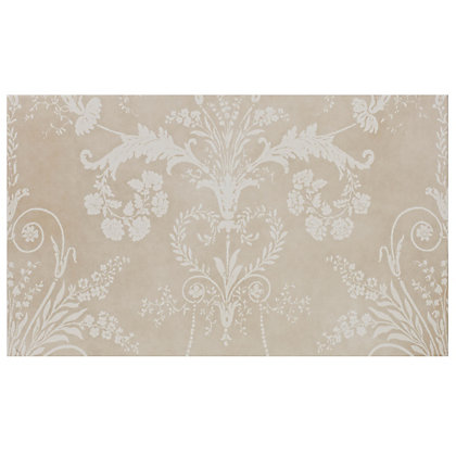 Image for Laura Ashley Josette Glazed Ceramic Decor Wall Tile Part B Cream Matt - 298 x 498mm - 6 pack from StoreName