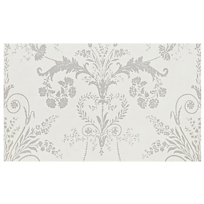 Image for Laura Ashley Josette Glazed Ceramic Decor Wall Tile Part B White Matt - 298 x 498mm - 6 pack from StoreName
