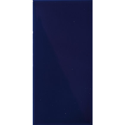 Image for V&A Cobalt Plain Glazed Ceramic Wall Tile from StoreName